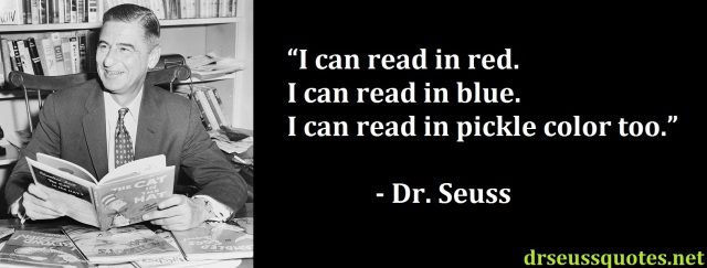 Dr. Seuss quote on reading